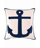 RugStudio presents Dash And Albert Admiral Fresh American Pillow Ivory/Navy