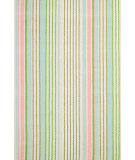 RugStudio presents Dash and Albert Ana Aqua Ticking Flat-Woven Area Rug