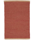 RugStudio presents Dash And Albert Arlington Rdb336 Red - Camel Flat-Woven Area Rug