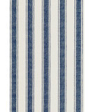 RugStudio presents Dash and Albert Blue 56166 Awning Stripe Flat-Woven Area Rug