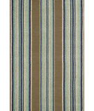 RugStudio presents Dash and Albert Blue Heron Stripe Flat-Woven Area Rug