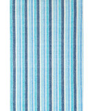 RugStudio presents Dash and Albert Bluemarine Ticking Flat-Woven Area Rug