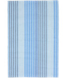 RugStudio presents Dash And Albert Blue Sky Ticking Blue Flat-Woven Area Rug