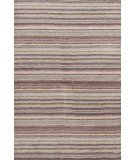 RugStudio presents Dash And Albert Brindle Stripe Dusty Plum Hand-Tufted, Good Quality Area Rug