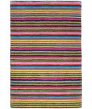 RugStudio presents Dash And Albert Brindle Stripe Carnival Hand-Tufted, Good Quality Area Rug
