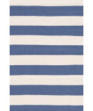 RugStudio presents Dash And Albert Catamaran Stripe Denim/Ivory Woven Area Rug
