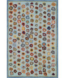 RugStudio presents Dash and Albert Cat's Paw 56177 Blue Hand-Hooked Area Rug