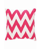 RugStudio presents Dash And Albert Chevron Fresh American Pillow Fuchsia/White