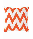 RugStudio presents Dash And Albert Chevron Fresh American Pillow Tangerine/White