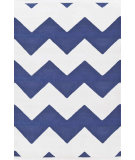 RugStudio presents Dash And Albert Chevron 81767 White / Denim Woven Area Rug