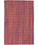 RugStudio presents Dash And Albert Coco Plaid Red Flat-Woven Area Rug