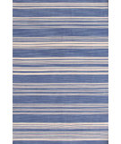 RugStudio presents Dash And Albert Cottage Stripe 105486 French Blue Woven Area Rug