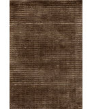 RugStudio presents Dash And Albert Cut Stripe 72650 Brown Hand-Knotted, Good Quality Area Rug