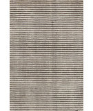 RugStudio presents Dash And Albert Cut Stripe Grey Hand-Knotted, Good Quality Area Rug