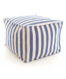 RugStudio presents Dash And Albert Trimaran Stripe Fresh American Pouf Denim/Ivory Flat-Woven