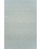 RugStudio presents Dash and Albert Diamond Light Blue/Ivory Woven Area Rug