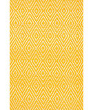 RugStudio presents Dash And Albert Diamond 64412 Canary/White Woven Area Rug