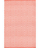 RugStudio presents Dash And Albert Diamond 105493 Coral/White Flat-Woven Area Rug