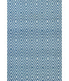 RugStudio presents Dash and Albert Diamond 56191 Denim/White Woven Area Rug