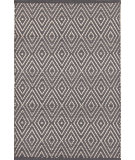 RugStudio presents Dash And Albert Diamond 92364 Graphite/Ivory Woven Area Rug