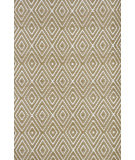 RugStudio presents Dash and Albert Diamond 56193 Khaki/White Woven Area Rug