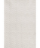 RugStudio presents Dash And Albert Diamond 64413 Platinum/White Woven Area Rug