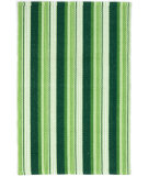 RugStudio presents Dash And Albert Evergreen Ticking Green Flat-Woven Area Rug