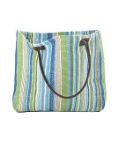 RugStudio presents Dash and Albert Fisher 60357 Ticking Woven Cotton Tote Bag