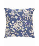 RugStudio presents Dash And Albert Flora Crewel Fresh American Pillow Denim