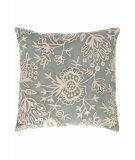 RugStudio presents Dash And Albert Flora Crewel Fresh American Pillow Light Blue