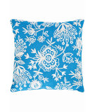 RugStudio presents Dash And Albert Flora Crewel Fresh American Pillow Turquoise