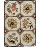 RugStudio presents Dash And Albert Flower Box  Hand-Hooked Area Rug