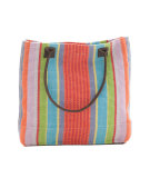 RugStudio presents Dash and Albert Garden 60366 Stripe Woven Cotton Tote Bag