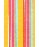 RugStudio presents Dash And Albert Happy 72662 Yellow Stripe Woven Area Rug