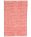 RugStudio presents Dash And Albert Herringbone Geometric Coral Flat-Woven Area Rug