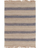 RugStudio presents Dash And Albert Jute Ticking 92370 Indigo Woven Area Rug