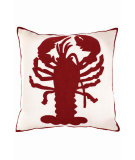 RugStudio presents Dash And Albert Lobster Fresh American Pillow Ivory/Red