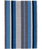 RugStudio presents Dash And Albert Midnight Stripe Blue Flat-Woven Area Rug