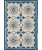 RugStudio presents Dash and Albert Navy Star Hand-Hooked Area Rug