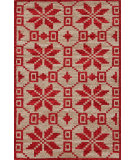 RugStudio presents Dash And Albert Nordic Star 92377 Crimson Woven Area Rug