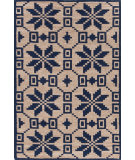 RugStudio presents Dash And Albert Nordic Star 92378 Indigo Woven Area Rug