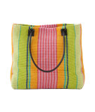 RugStudio presents Dash and Albert Parasol Stripe Woven Cotton Tote Bag