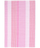 RugStudio presents Dash And Albert Pink Sand Ticking Pink Flat-Woven Area Rug