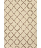 RugStudio presents Dash and Albert Plain Tin 56239 Ivory Hand-Hooked Area Rug