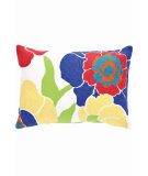RugStudio presents Dash And Albert Poppy Fresh American Pillow Fuchsia/Blue