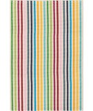 RugStudio presents Dash And Albert Rainbow 86186 Stripe Woven Area Rug