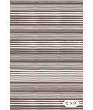 RugStudio presents Dash And Albert Rugby Stripe Brown Woven Area Rug