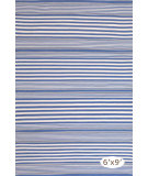 RugStudio presents Dash And Albert Rugby Stripe Denim Woven Area Rug