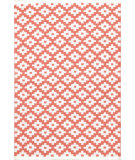 RugStudio presents Dash And Albert Samode 105556 Coral/White Flat-Woven Area Rug
