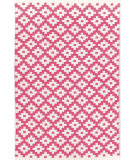 RugStudio presents Dash And Albert Samode 92385 Fuchsia/Ivory Flat-Woven Area Rug